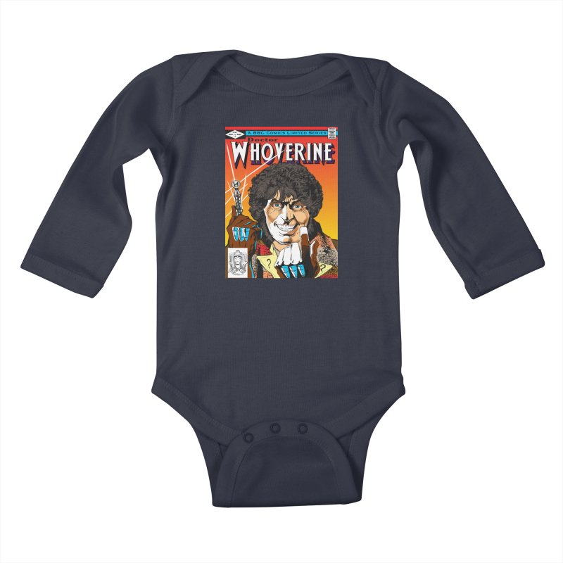 Doctor Whoverine Kids Baby Longsleeve Bodysuit by jeffcarpenter's Artist Shop