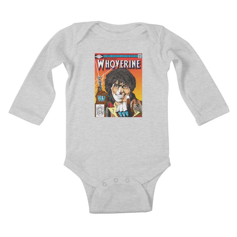 Doctor Whoverine Kids Baby Longsleeve Bodysuit by jeffcarpenter's Artist Shop