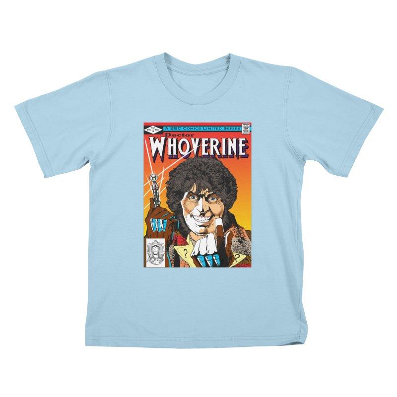 Doctor Whoverine Kids T-Shirt by jeffcarpenter's Artist Shop