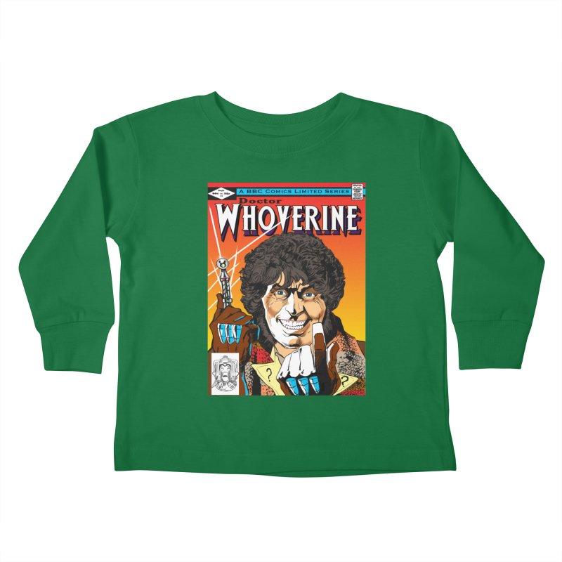 Doctor Whoverine Kids Toddler Longsleeve T-Shirt by jeffcarpenter's Artist Shop