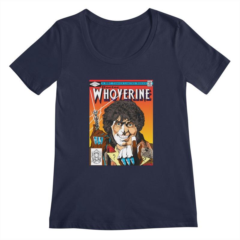 Doctor Whoverine Women's Scoopneck by jeffcarpenter's Artist Shop