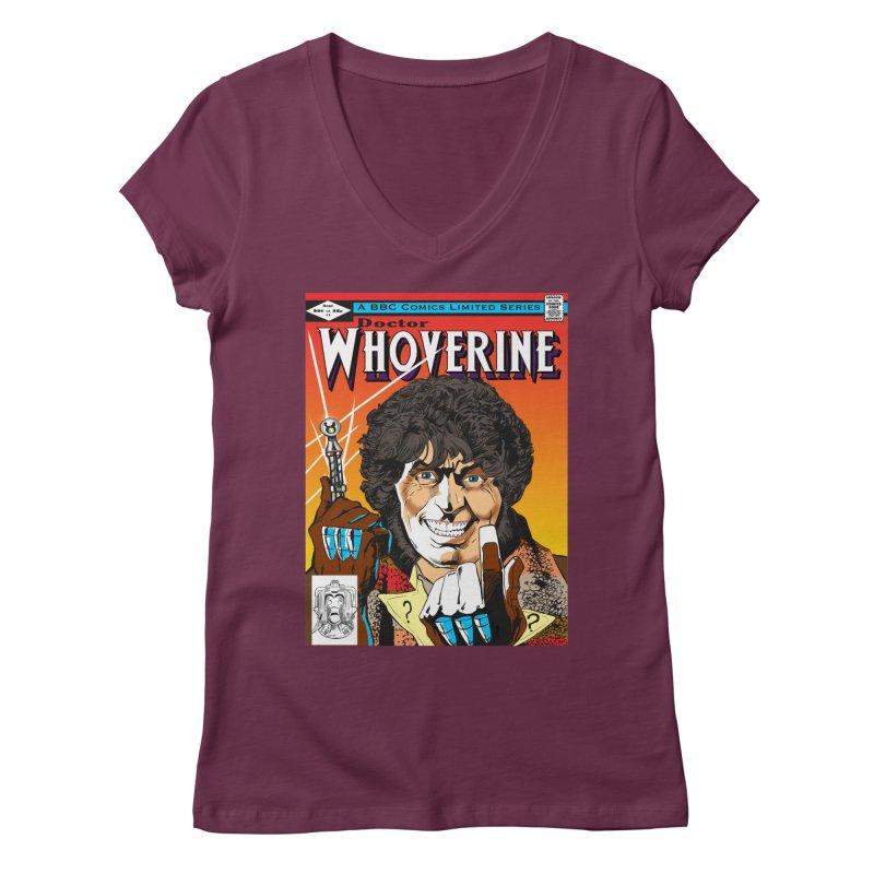 Doctor Whoverine Women's V-Neck by jeffcarpenter's Artist Shop