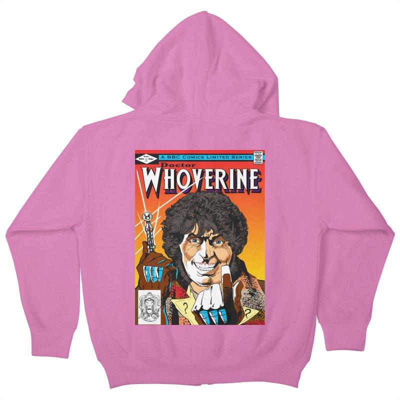 Doctor Whoverine Kids Zip-Up Hoody by jeffcarpenter's Artist Shop