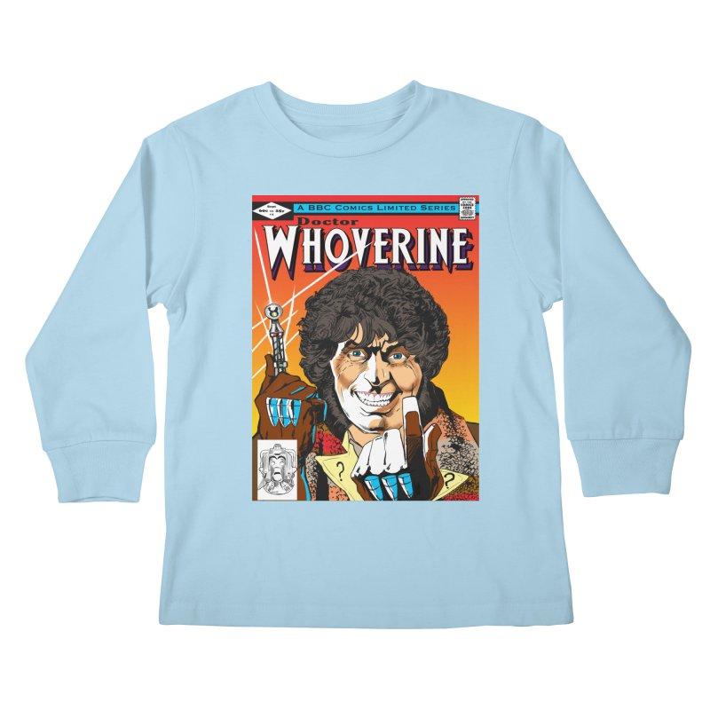 Doctor Whoverine Kids Longsleeve T-Shirt by jeffcarpenter's Artist Shop