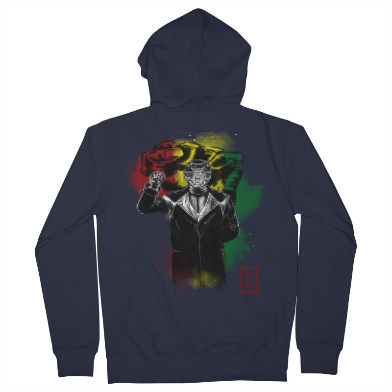 Black Power Ranger Women's Zip-Up Hoody by jeffcarpenter's Artist Shop