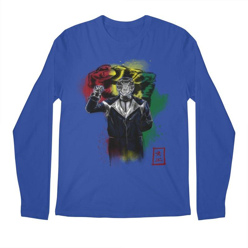 Black Power Ranger Men's Longsleeve T-Shirt by jeffcarpenter's Artist Shop