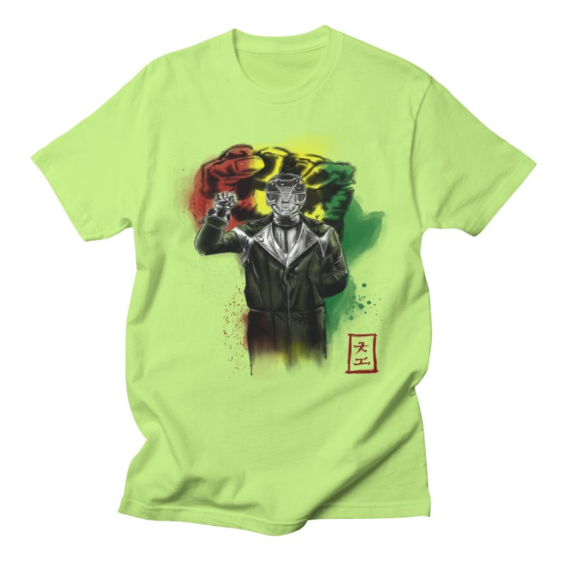 Black Power Ranger Men's T-shirt by jeffcarpenter's Artist Shop
