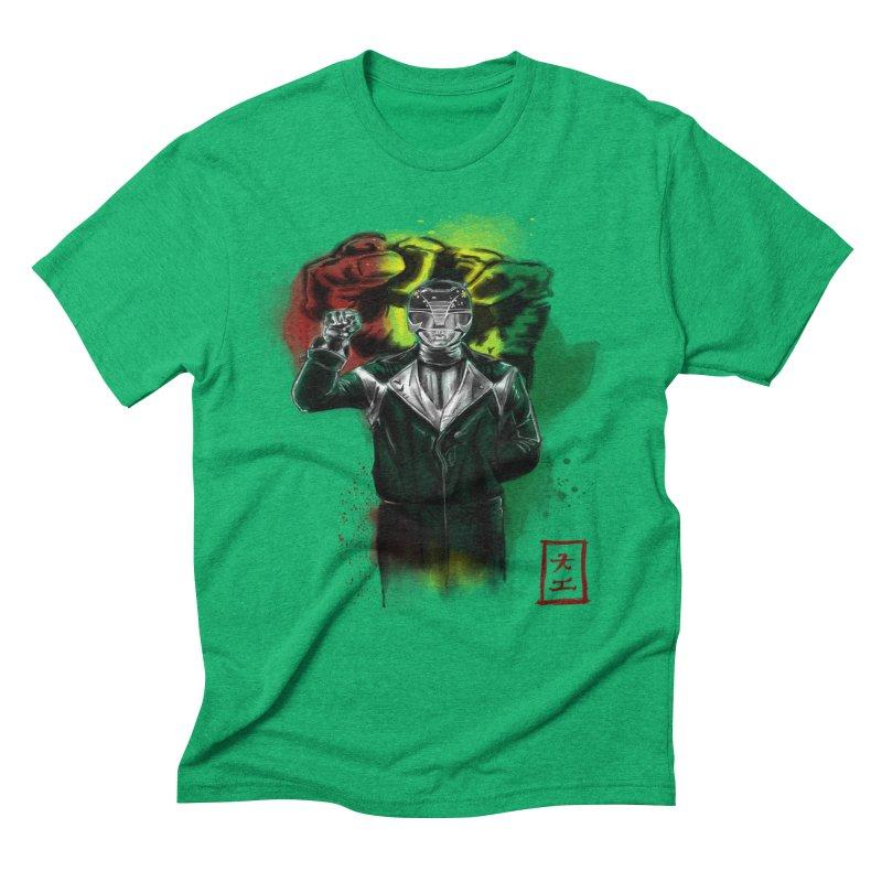 Black Power Ranger Men's Triblend T-shirt by jeffcarpenter's Artist Shop