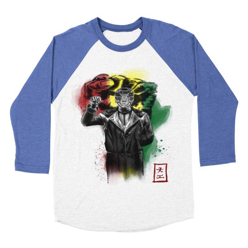 Black Power Ranger Women's Baseball Triblend T-Shirt by jeffcarpenter's Artist Shop