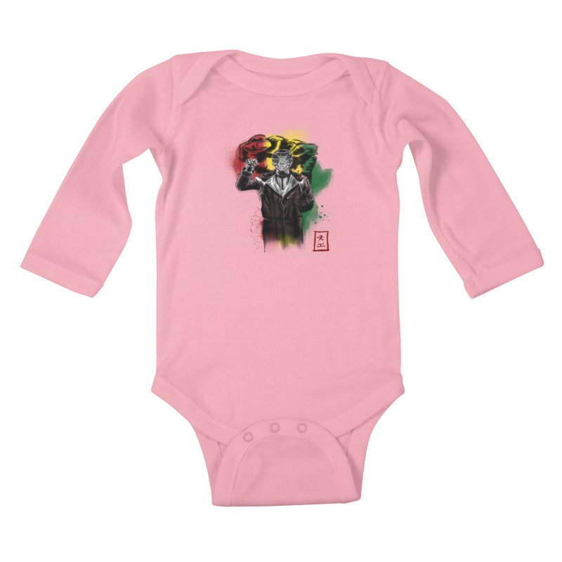Black Power Ranger Kids Baby Longsleeve Bodysuit by jeffcarpenter's Artist Shop