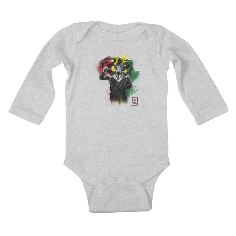 Black Power Ranger Kids Baby Longsleeve Bodysuit by jeffcarpenter's Artist Shop
