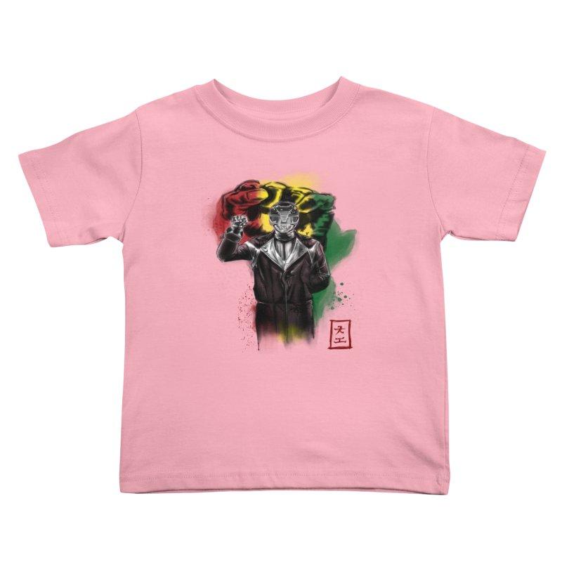 Black Power Ranger Kids Toddler T-Shirt by jeffcarpenter's Artist Shop