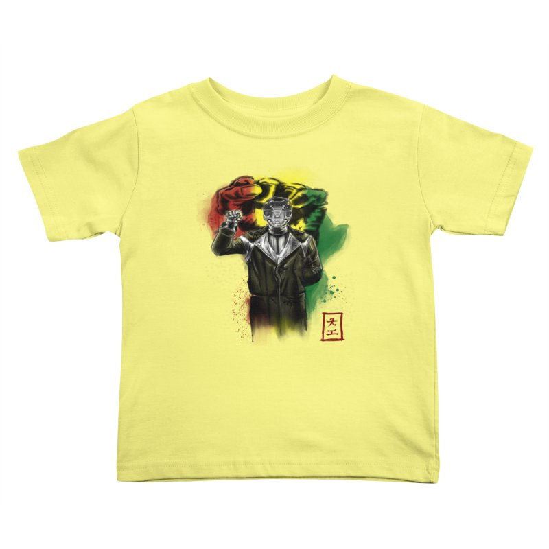 Black Power Ranger Kids Toddler T-Shirt by jeffcarpenter's Artist Shop