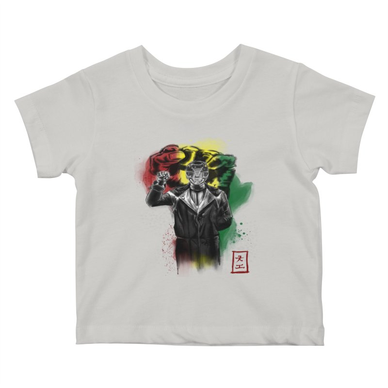 Black Power Ranger Kids Baby T-Shirt by jeffcarpenter's Artist Shop