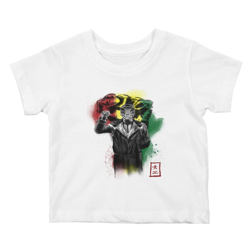 Black Power Ranger Kids Baby T-Shirt by jeffcarpenter's Artist Shop