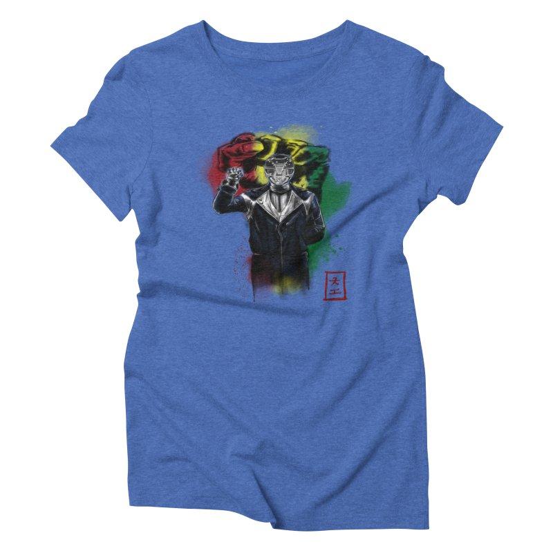 Black Power Ranger Women's Triblend T-shirt by jeffcarpenter's Artist Shop