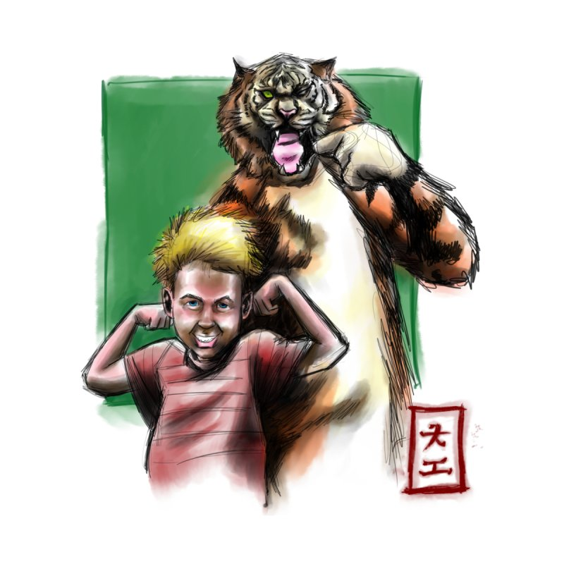 A boy and his tiger by jeffcarpenter's Artist Shop
