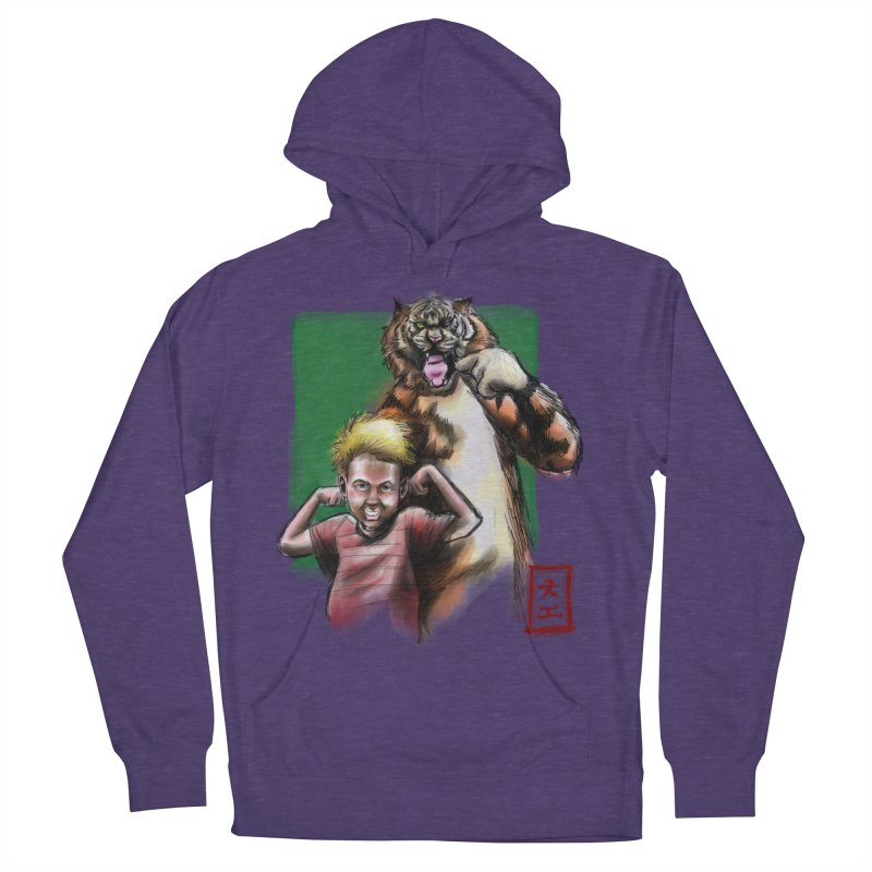 A boy and his tiger Men's Pullover Hoody by jeffcarpenter's Artist Shop