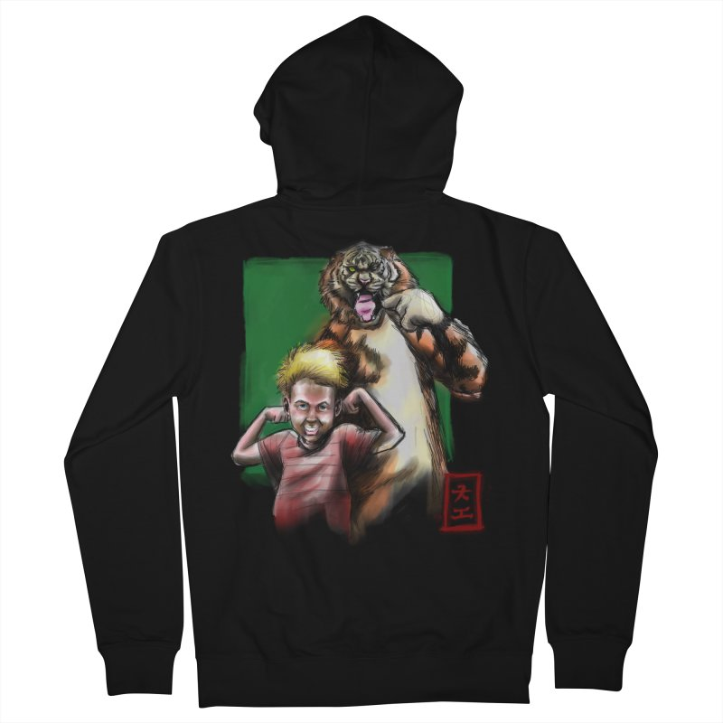 A boy and his tiger Men's Zip-Up Hoody by jeffcarpenter's Artist Shop