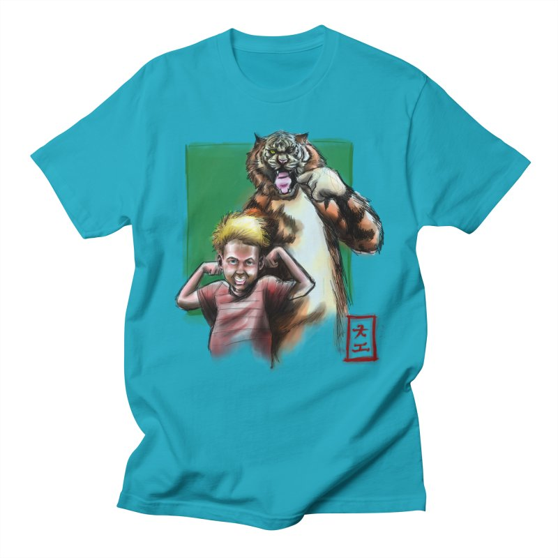 A boy and his tiger Men's T-Shirt by jeffcarpenter's Artist Shop