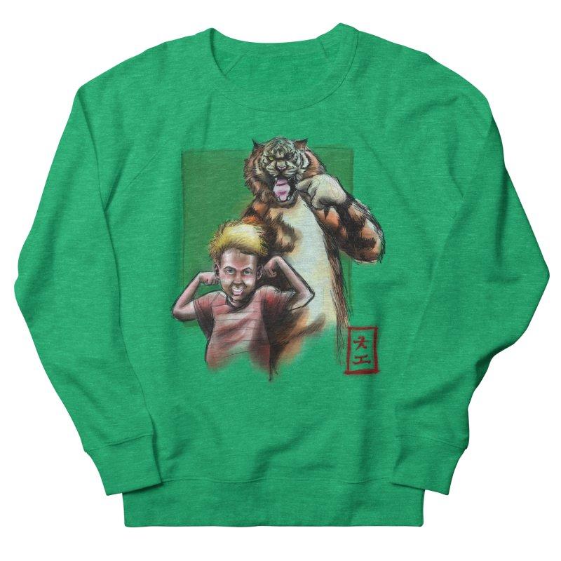 A boy and his tiger Women's Sweatshirt by jeffcarpenter's Artist Shop