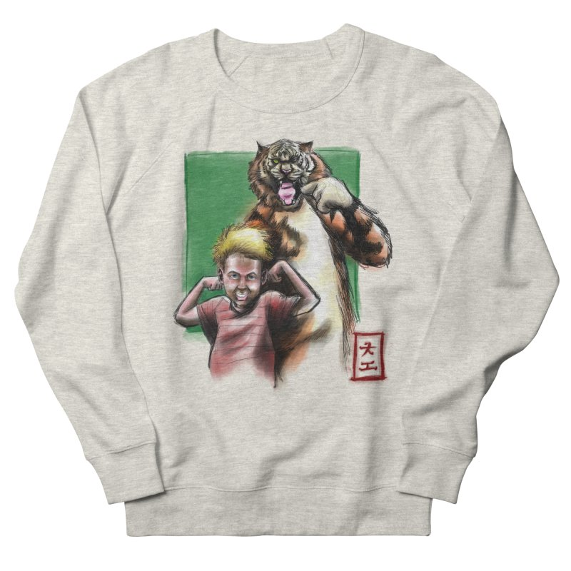 A boy and his tiger Women's Sweatshirt by jeffcarpenter's Artist Shop