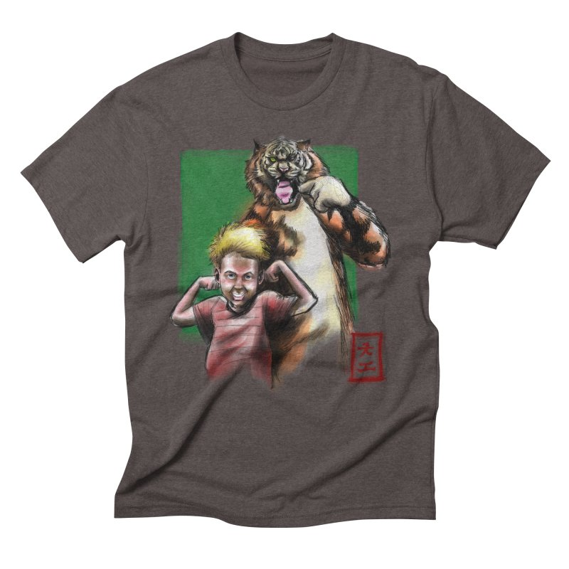 A boy and his tiger Men's Triblend T-Shirt by jeffcarpenter's Artist Shop