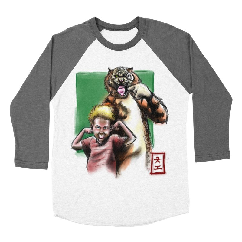 A boy and his tiger Women's Baseball Triblend T-Shirt by jeffcarpenter's Artist Shop