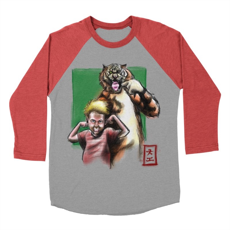 A boy and his tiger Women's Baseball Triblend T-Shirt by jeffcarpenter's Artist Shop