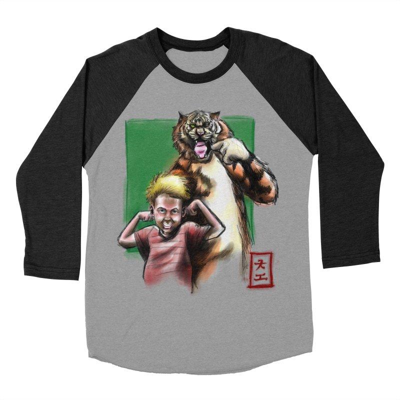 A boy and his tiger Men's Baseball Triblend T-Shirt by jeffcarpenter's Artist Shop