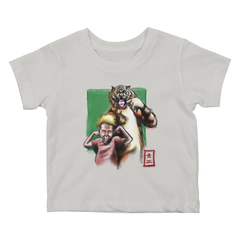 A boy and his tiger Kids Baby T-Shirt by jeffcarpenter's Artist Shop