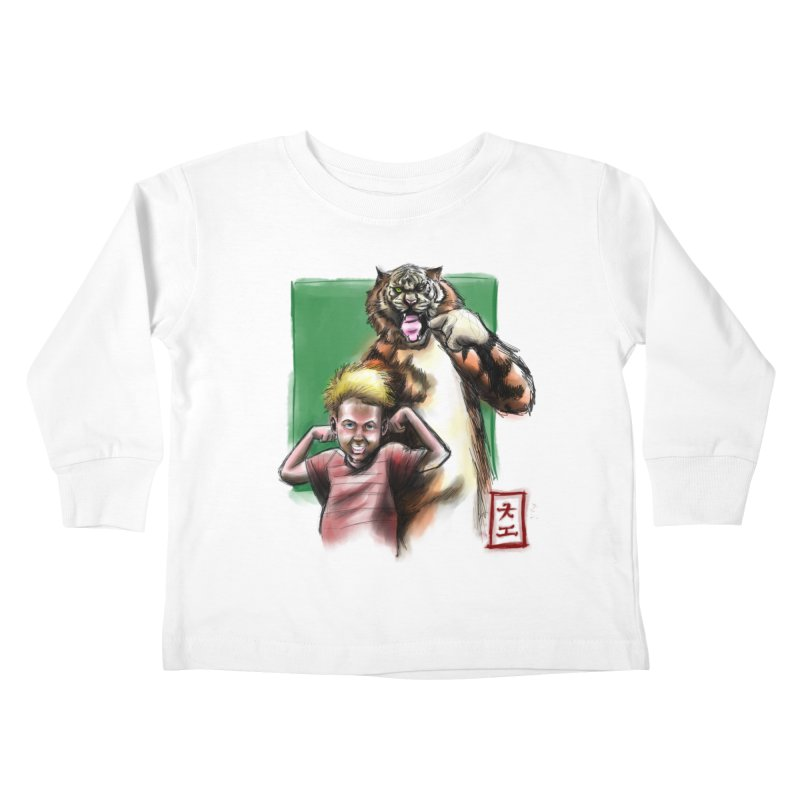A boy and his tiger Kids Toddler Longsleeve T-Shirt by jeffcarpenter's Artist Shop