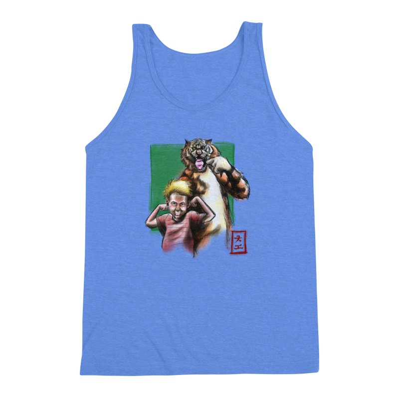 A boy and his tiger Men's Triblend Tank by jeffcarpenter's Artist Shop