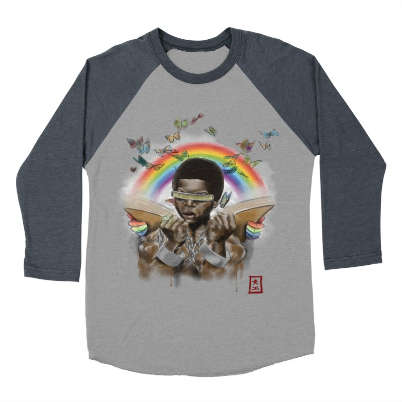 Butterfies In The Sky Men's Baseball Triblend T-Shirt by jeffcarpenter's Artist Shop