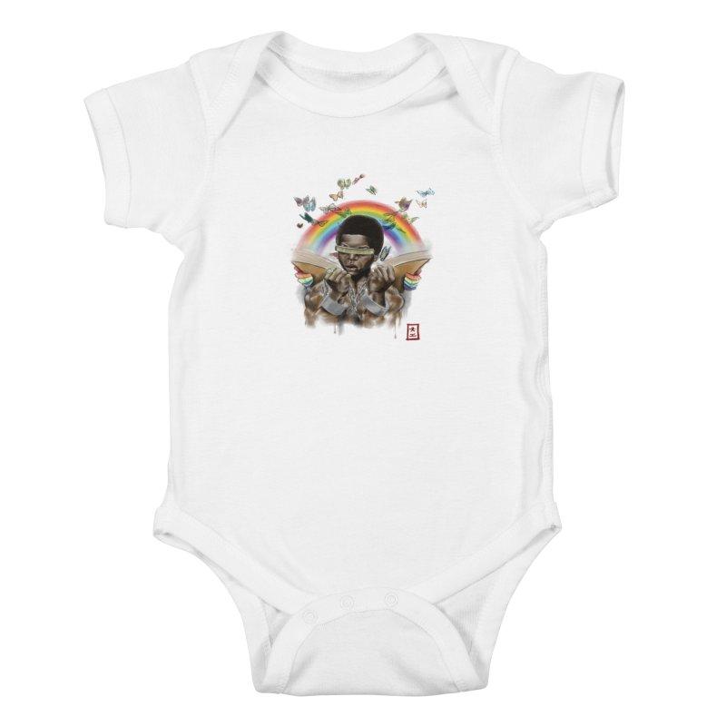 Butterfies In The Sky Kids Baby Bodysuit by jeffcarpenter's Artist Shop