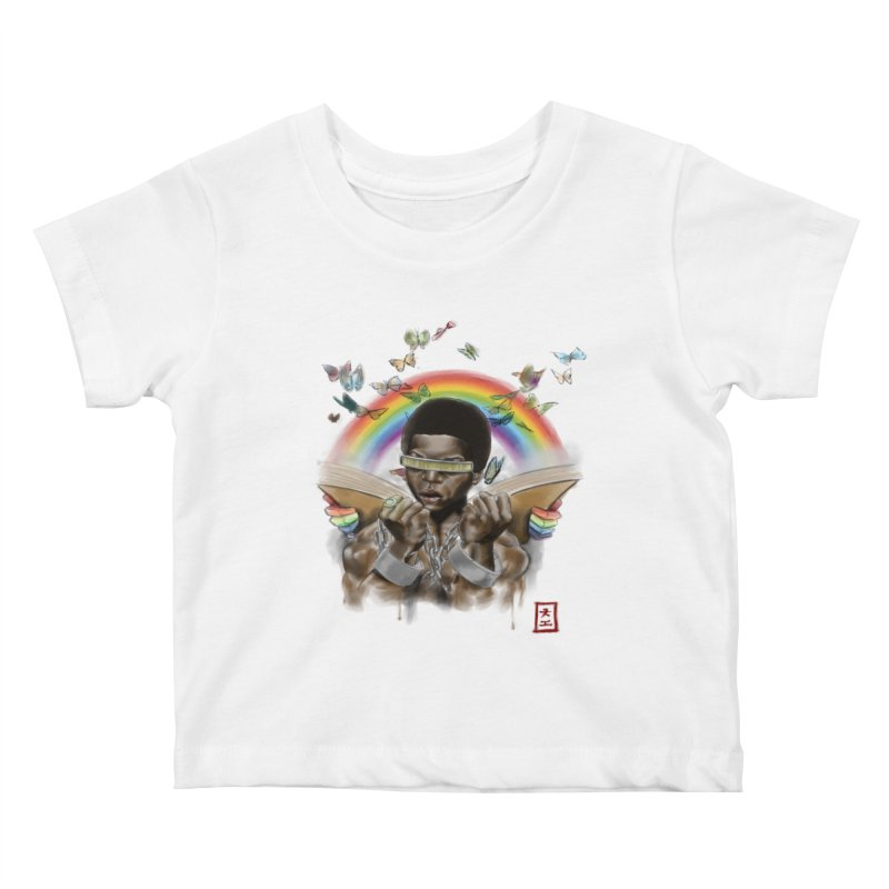 Butterfies In The Sky Kids Baby T-Shirt by jeffcarpenter's Artist Shop