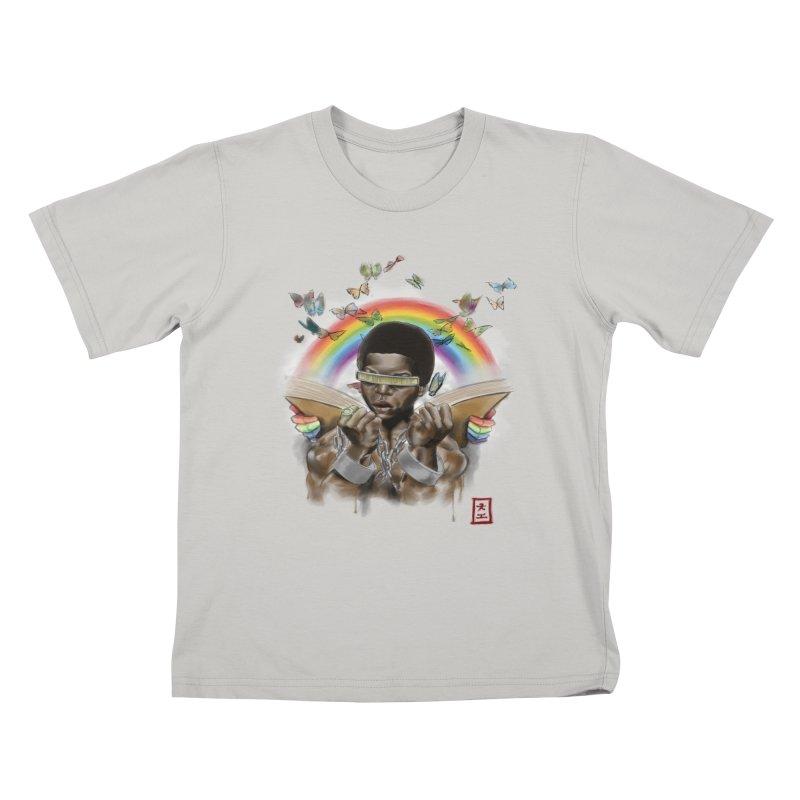 Butterfies In The Sky Kids T-shirt by jeffcarpenter's Artist Shop