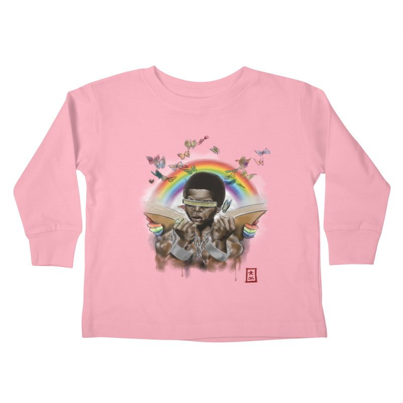 Butterfies In The Sky Kids Toddler Longsleeve T-Shirt by jeffcarpenter's Artist Shop