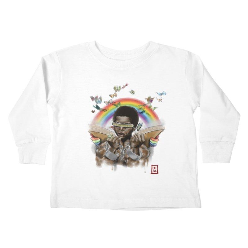 Butterfies In The Sky Kids Toddler Longsleeve T-Shirt by jeffcarpenter's Artist Shop