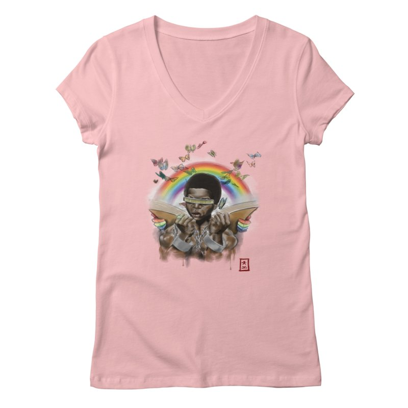 Butterfies In The Sky Women's V-Neck by jeffcarpenter's Artist Shop