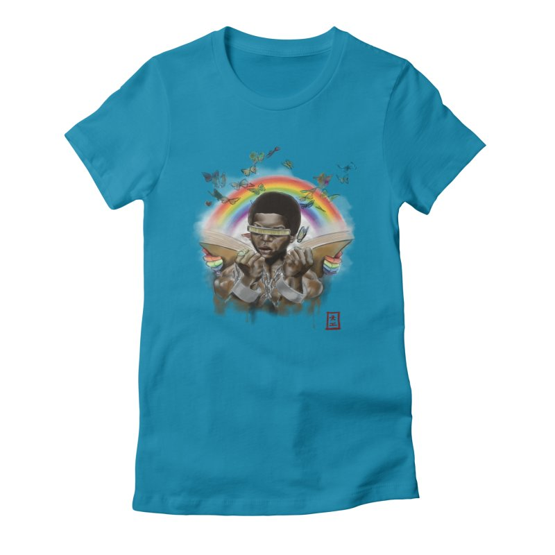 Butterfies In The Sky Women's Fitted T-Shirt by jeffcarpenter's Artist Shop