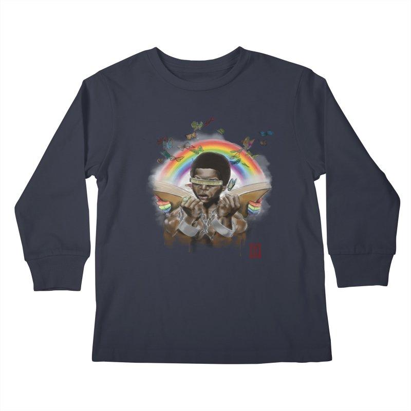 Butterfies In The Sky Kids Longsleeve T-Shirt by jeffcarpenter's Artist Shop