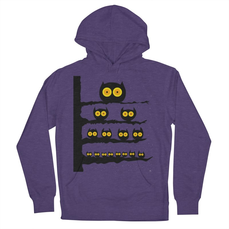 Night Owls Men's French Terry Pullover Hoody by jeffisawesome's Artist Shop