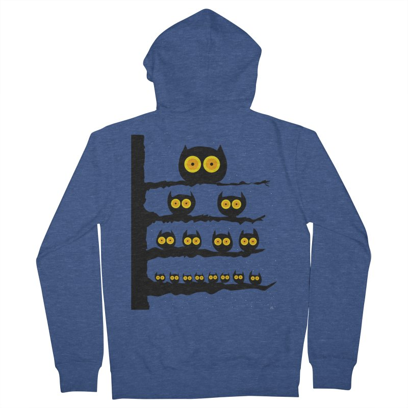 Night Owls Women's French Terry Zip-Up Hoody by jeffisawesome's Artist Shop