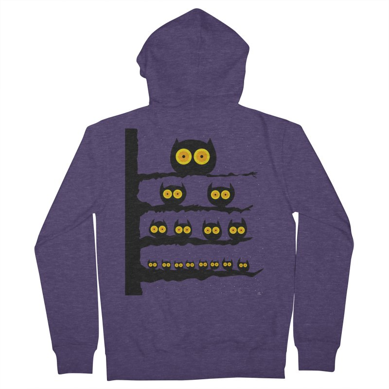 Night Owls Men's Zip-Up Hoody by jeffisawesome's Artist Shop
