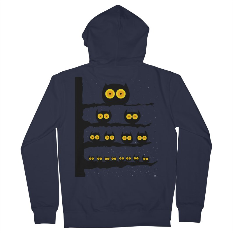 Night Owls Men's French Terry Zip-Up Hoody by jeffisawesome's Artist Shop