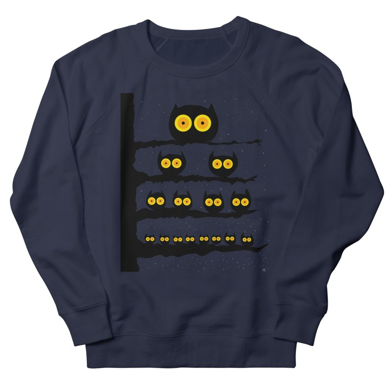 Night Owls Men's French Terry Sweatshirt by jeffisawesome's Artist Shop