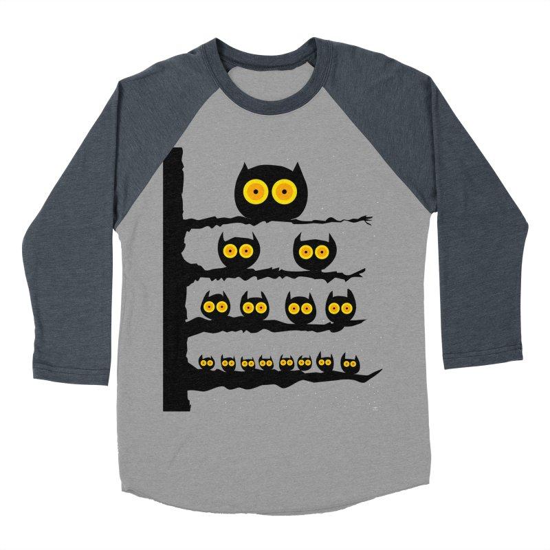 Night Owls Women's Baseball Triblend Longsleeve T-Shirt by jeffisawesome's Artist Shop