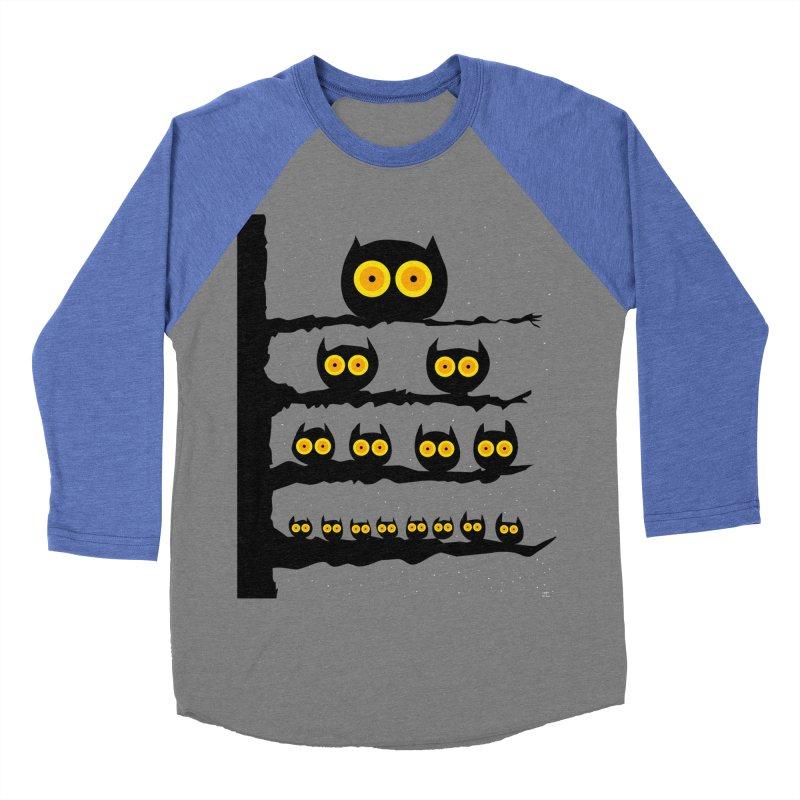Night Owls Men's Baseball Triblend Longsleeve T-Shirt by jeffisawesome's Artist Shop