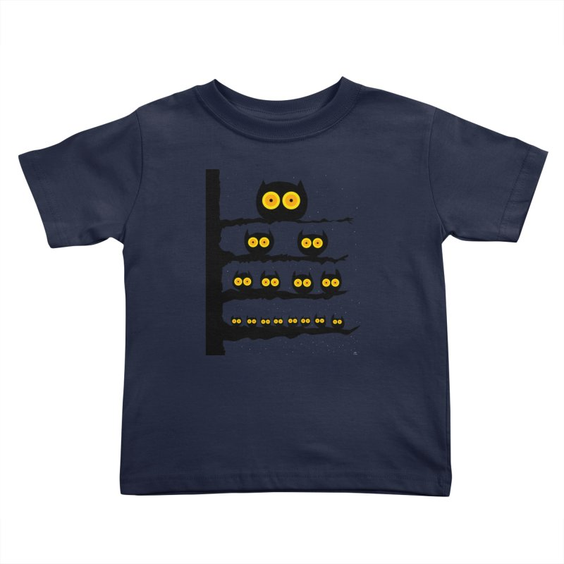 Night Owls Kids Toddler T-Shirt by jeffisawesome's Artist Shop